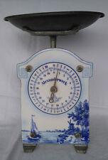 ***Wunderschöne Antike küchenwaage Emaille Alexanderwerke Weiß Blau ***
