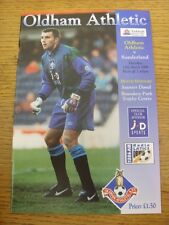 12/03/1996 Oldham Athletic v Sunderland  . Item appears to be in good condition