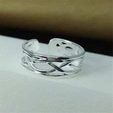New Women Fashion Jewelry 925 Sterling Silver Adjustable Ring Finger Thumb Toe