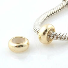 One STOPPER gold plated - Solid 925 sterling silver European charm bead