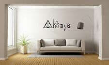 Harry Potter ALWAYS Quote Magic Wall Decal Decor For Car Home X-Large