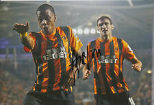 HULL CITY HAND SIGNED ABEL HERNANDEZ 12X8 PHOTO.