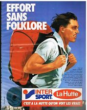 Publicité Advertising 1985 Les Magasins Intersport La Hutte