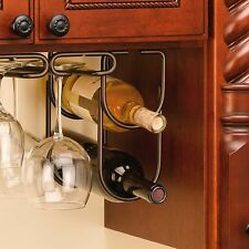 Oil Rubbed Bronze Double Wine Bottle Liquor Holder Kitchen Home Cabinet Decor