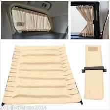 2pc 70cm Mesh Style Valances Anti-UV Sunshade Drape Visor Car SUV Window Curtain