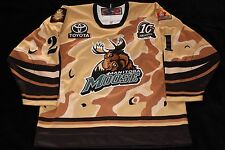 MANITOBA MOOSE MILITARY TRIBUTE * JIMMY ROY * MICHIGAN TECH * NOT GAME WORN USED