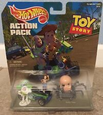 NIP HOT WHEELS ACTION PACK 90's TOY STORY WOODY~BUZZ LIGHTYEAR~BABY FACE~RC CAR