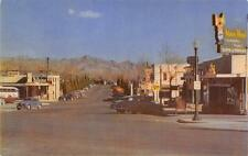 BOULDER CITY, NV Arizona Street Scene Nevada Highway Roadside Postcard ca 1950s