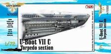 CMK 1:72 U-Boat VII C Torpedo Section for Revell kit 05015 U-Boat VII C #N72002