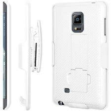For Samsung Galaxy White Note Edge Defender Style Case With Belt Clip & Holster