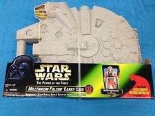 Star Wars Millenium Falcon Carry Case - Kenner - with Wedge Antilles figure