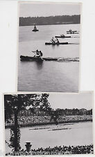 OLYMPIC ROWING REGATTA RACES VINTAGE 1936 BERLIN GERMANY SPORTS PHOTO CARDS