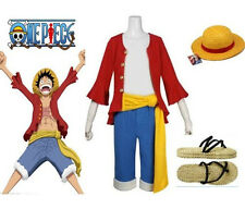 One Piece Monkey D. Luffy 2 Years Later Cosplay Costume Set Male Large