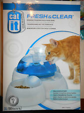 Cat or Small Dog CatIt Fresh & Clear Drinking Water Fountain & Food Bowl 50050