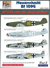 H-Model Decals 1/72 Messerschmitt Bf 109s Over the Czech Territory, Part 2 # 720