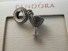 BN100% GENUINE PANDORA COCKTAIL GLASS CHARM-791535CZ