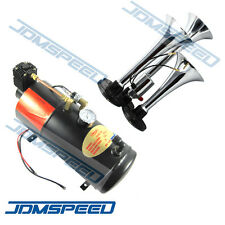 3-Trumpet Train Air Horn Kit 150 PSI Air System With 12V Air Compressor 150dB+