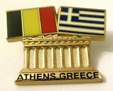 Pin Spilla Olimpiadi Athens 2004 Greece/Belgium Flags