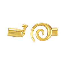 Kumihimo Gold Plated Glue-In Swirl Toggle Clasp - 6.2mm Pack of 1 (E21/5)