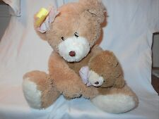 "17"" Ty Classic Silk Large Cradles Bear with Baby VGC CUTE"