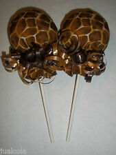 GIRAFFE NEUTRAL NO SCRATCH MITTEN LOLLIPOPS BABY SHOWER DIAPER CAKE FAVOR