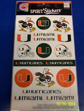 Miami Hurricanes The U NCAA University College Gift Logo Decals Spirit Stickers