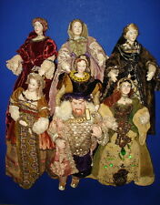 Kimport Kimcraft Henry VIII & His 6 Wives Composition & Cloth Dolls 1940s Rare!