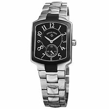 Philip Stein Women's 21TB-FB-SS3 Signature Black Dial Two Tone Bracelet Watch