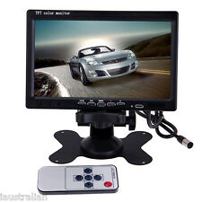 """7"""" TFT Color LCD 2 Video Input Car Rear View Headrest Monitor DVD VCR Monitor"""