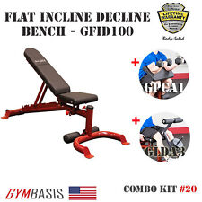 2016 NEW - BodySolid FID Bench GFID100 + Biceps Curl GPCA1 & Leg Developer GLDA3