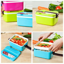 Bento Lunch Box + Spoon Utensils Picnic Food Container Storage Box Microwave