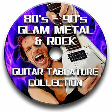 80's - 90's GLAM METAL & ROCK GUITAR TABS TABLATURE SOFTWARE CD