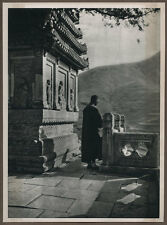 1920's CHINA GRAVURE PAGEANT OF PEKING DONALD MENNIE - A SHRINE