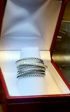 David Yurman Crossover Wide Ring With Diamonds Size 7