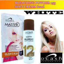 WHITE  Hair Bleaching  Lighte Bleaching Dye Powder Toner Lightener