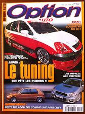 Option Auto n°119 du 3/2001; Japon, le tuning qui pète les plombs/ Impreza WRX