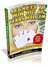 SERETS TO WIN BIG AT TEXAS HOLD'EM PDF EBOOK FREE SHIPPING RESALE RIGHTS