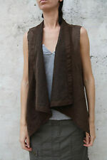 CK Calvin Klein cloak cape Sleeveless mantel velvet Brown Stretch Fit XL SUPER