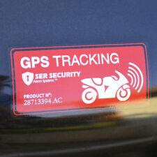 2x Avertissement Suivi GPS à bord - Autocollant Vélo Moto - Sticker Sécurité