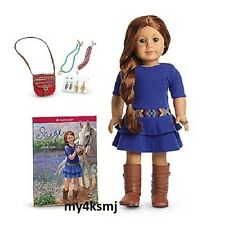 American Girl SAIGE DOLL + BOOK 2013 + Saige's ACCESSORIES purse earrings sage +