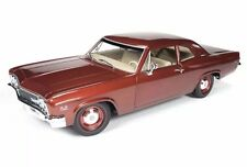 1966 CHEVROLET BISCAYNE COUPE BRONZE LTD ED 1,002PCS AMM1053 AUTOWORLD 1/18