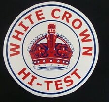 White Crown Hi-Test Graphic Decal *Gas & Oil*