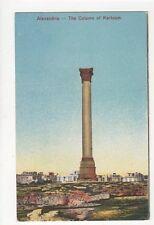 Alexandria Column Of Khartoum Vintage Postcard Egypt 160a