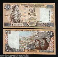 CYPRUS 1 POUND P60A 1997 EURO GIRL HANDICRAFT UNC CURRENCY MONEY BILL NOTE 10 PC