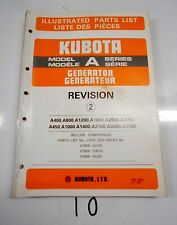 Kubota Tractor Model# Series A Generator Parts Catalog Manual    6/85