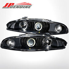 ANGEL EYE RING HALO PROJECTOR HEADLIGHTS BLACK - MITSUBISHI ECLIPSE 1997-1999
