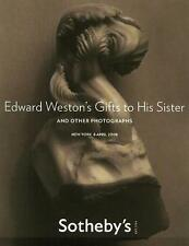 Sotheby's Edward Weston's Gifts to His Sister Photograph Post Auction Catalog 08