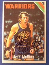 JEFF MULLINS signed 1975-76 Topps Golden State Warriors