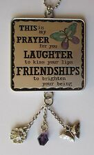 Laughter Friendshp Butterfly Prayer for you CAR CHARM mirror ornament Ganz