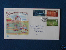 First Day Cover - Commonwealth Games 1970 - Stamped - 15/7/70 Shildon,Co Durham